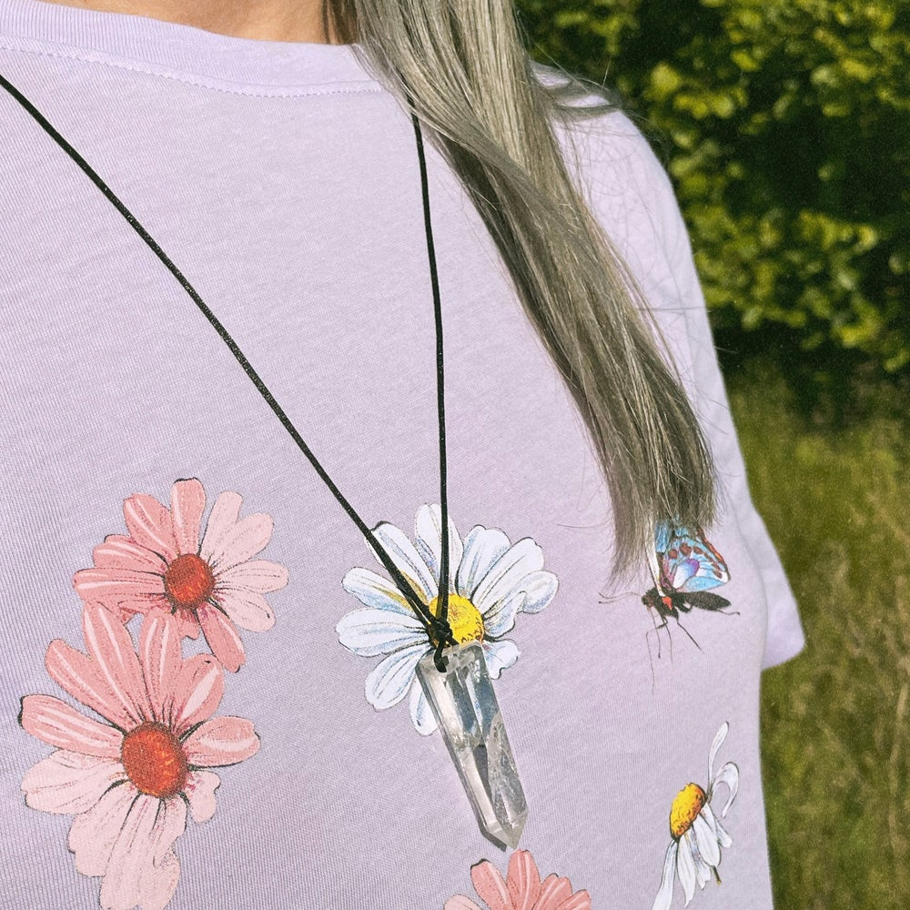 Image of Master Healer Crystal point necklace - Clear Quartz