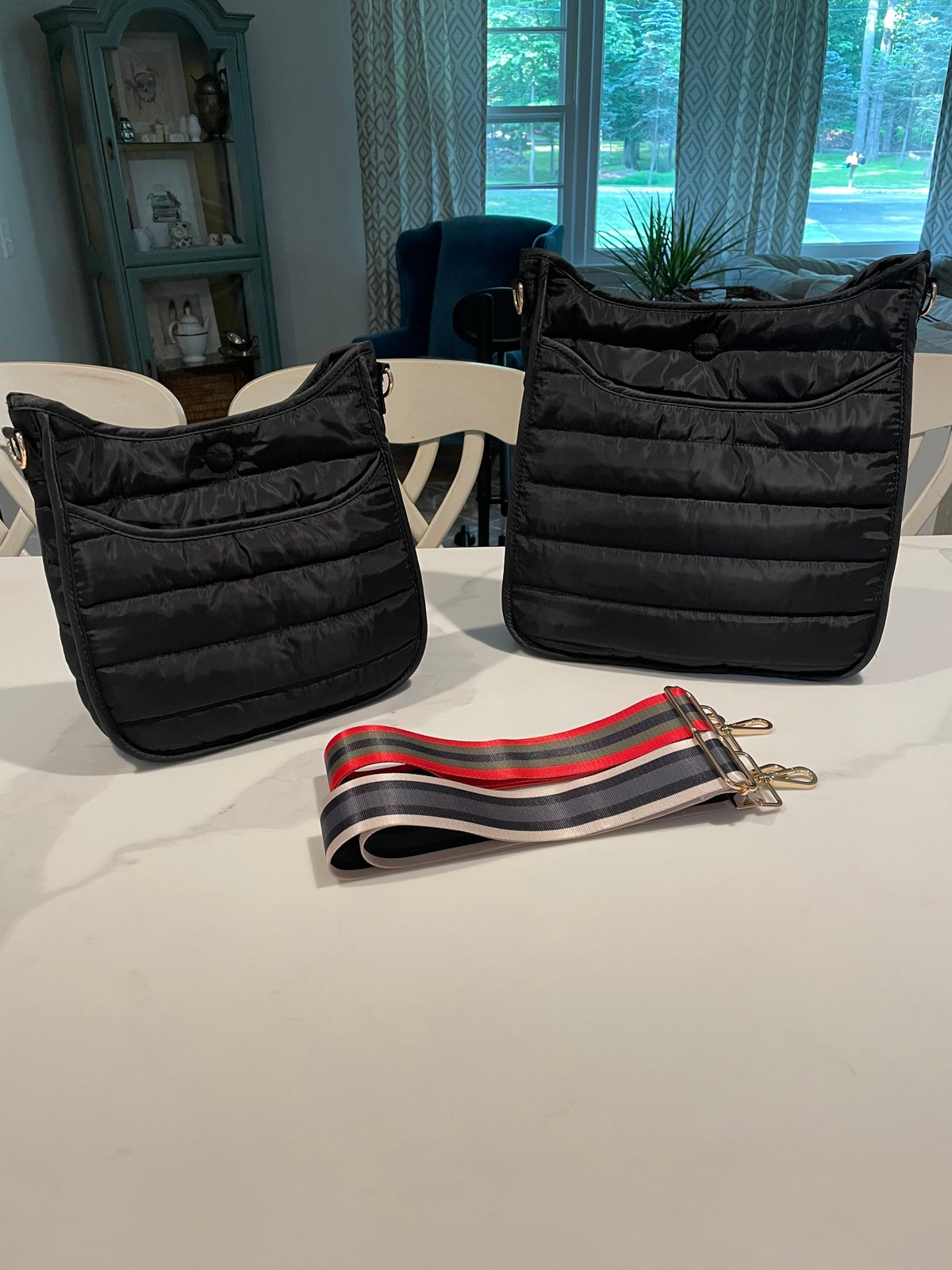 Image of Puffer Crossbody w/o Strap - SMALL BLACK & OLIVE ONLY
