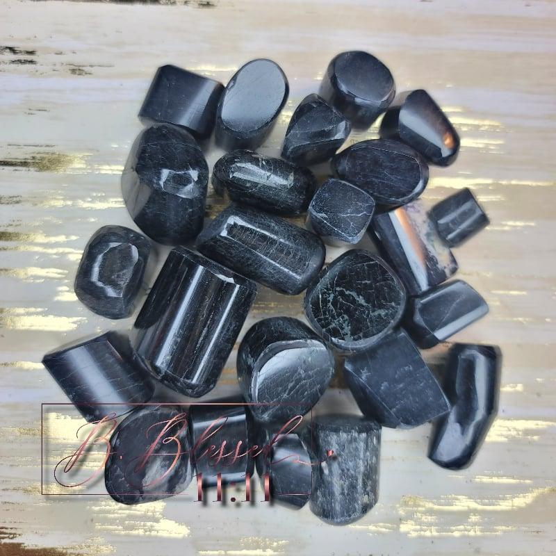 Image of Black Tourmaline Tumble Stone