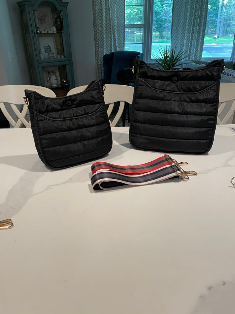 Image of Puffer Crossbody w/ Strap - Small BLACK ONLY