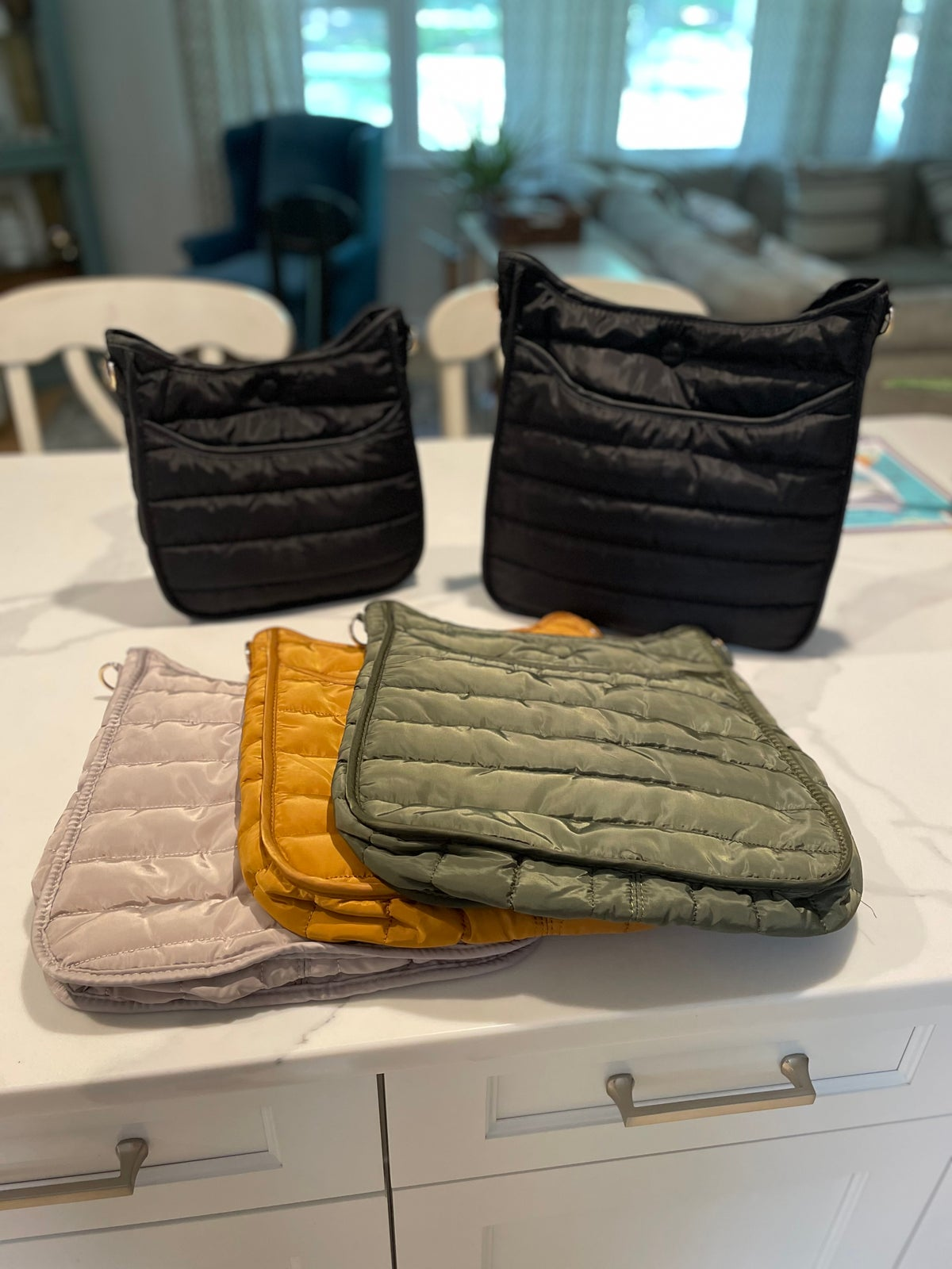 Image of Puffer Crossbody w/o Strap -LARGE 4 Colors