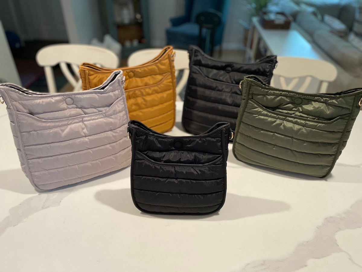 Image of Puffer Crossbody w/ Strap - Large 4 Colors