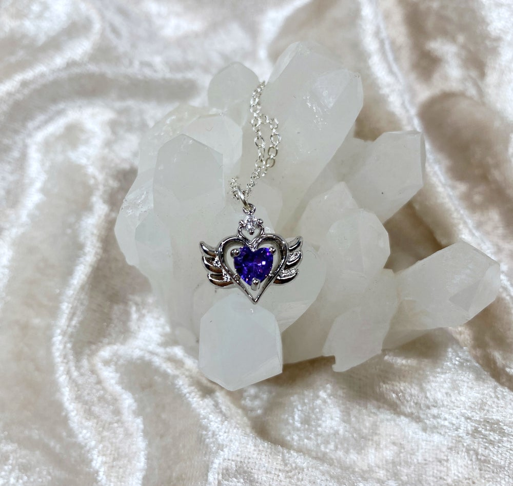 Image of February Sailor Moon necklace (silver)