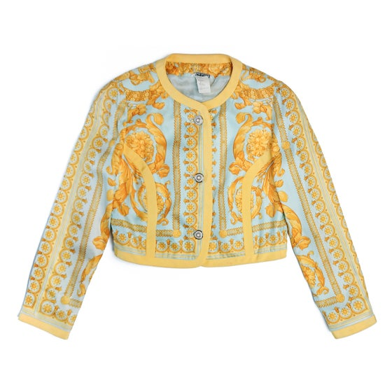 Image of 1992 Gianni Versace 'Instante' Silk Baroque Jacket