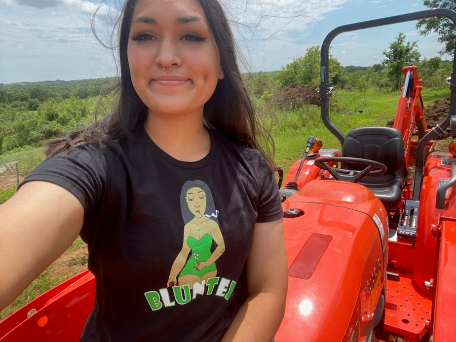 Image of Lady blunted t shirt