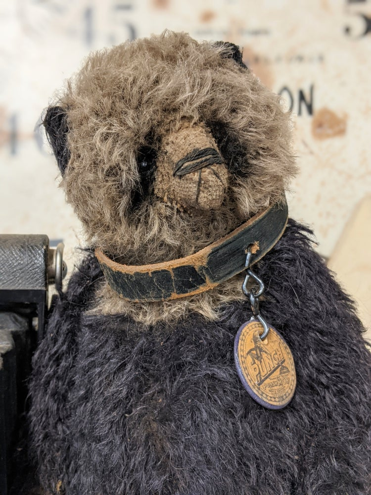 """Image of PUNCH the 12"""" BIGGY size old Fat Vintage long hair mohair PANDA Bear  by Whendi's Bears"""