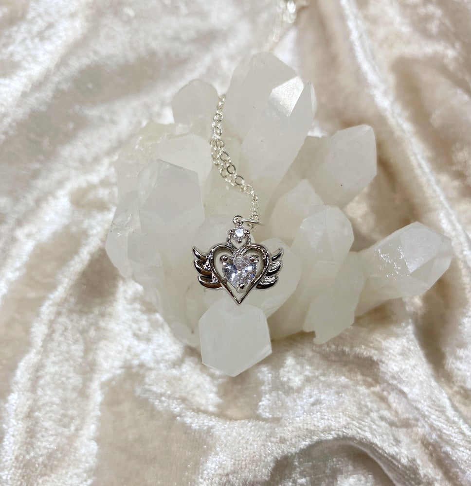 Image of April Sailor Moon necklace (silver)
