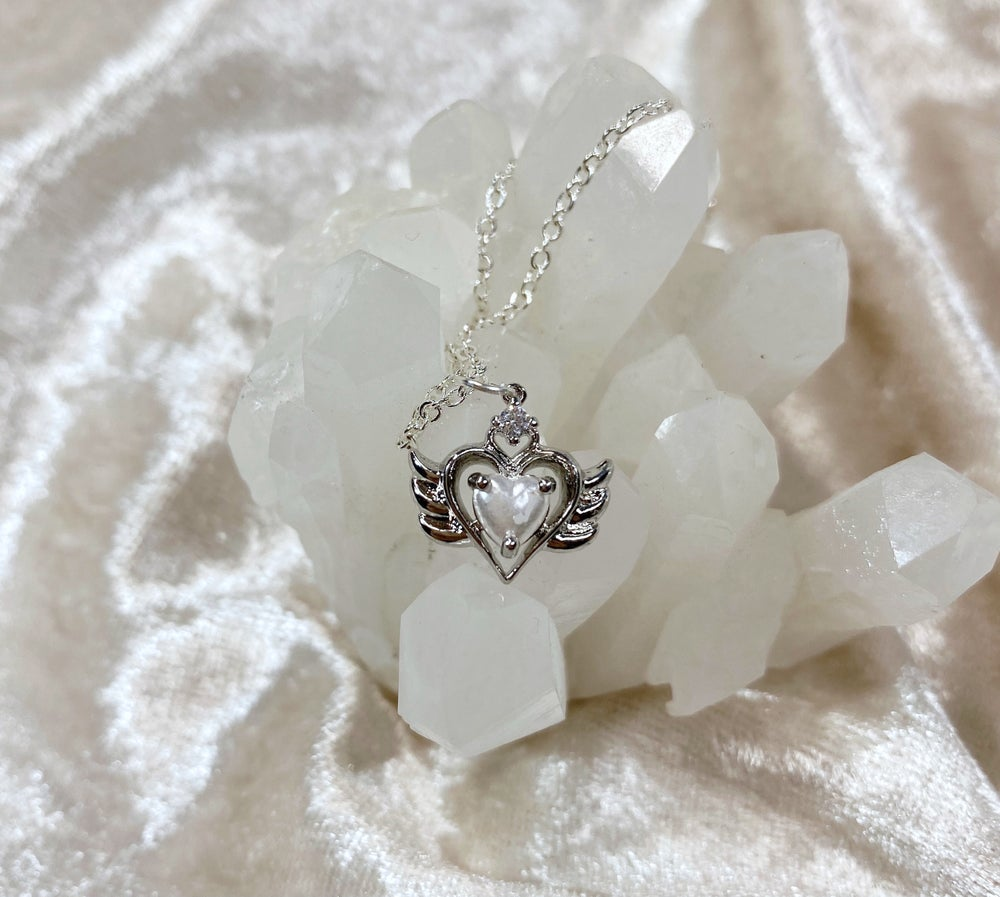 Image of June Sailor Moon necklace (silver)