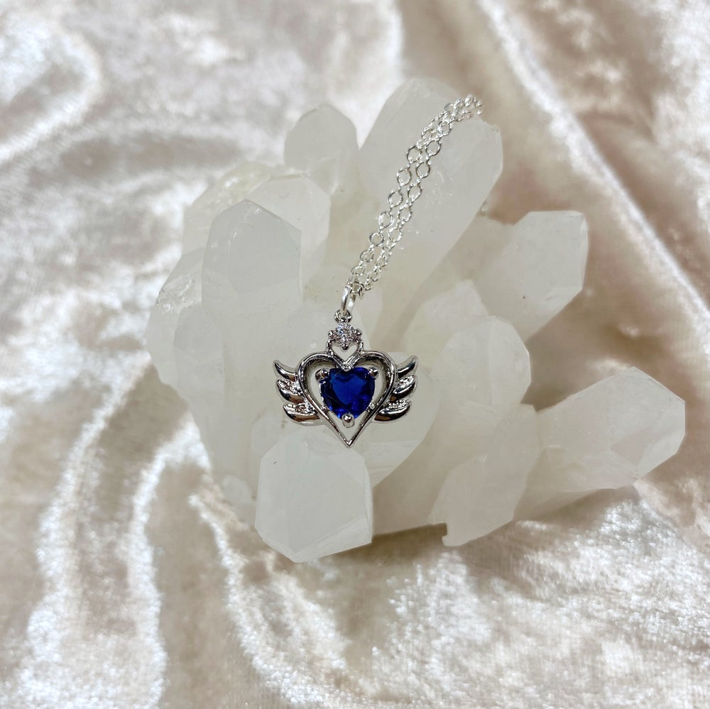 Image of September Sailor Moon necklace (silver)