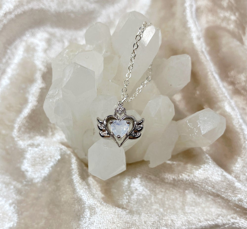 Image of October Sailor Moon necklace (silver)