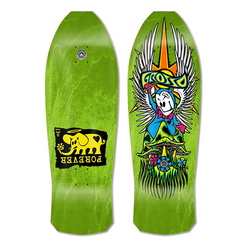 """Image of 1-Per Customer GROSSO """"FOREVER"""" 1989 reissue Lime Green Stain"""
