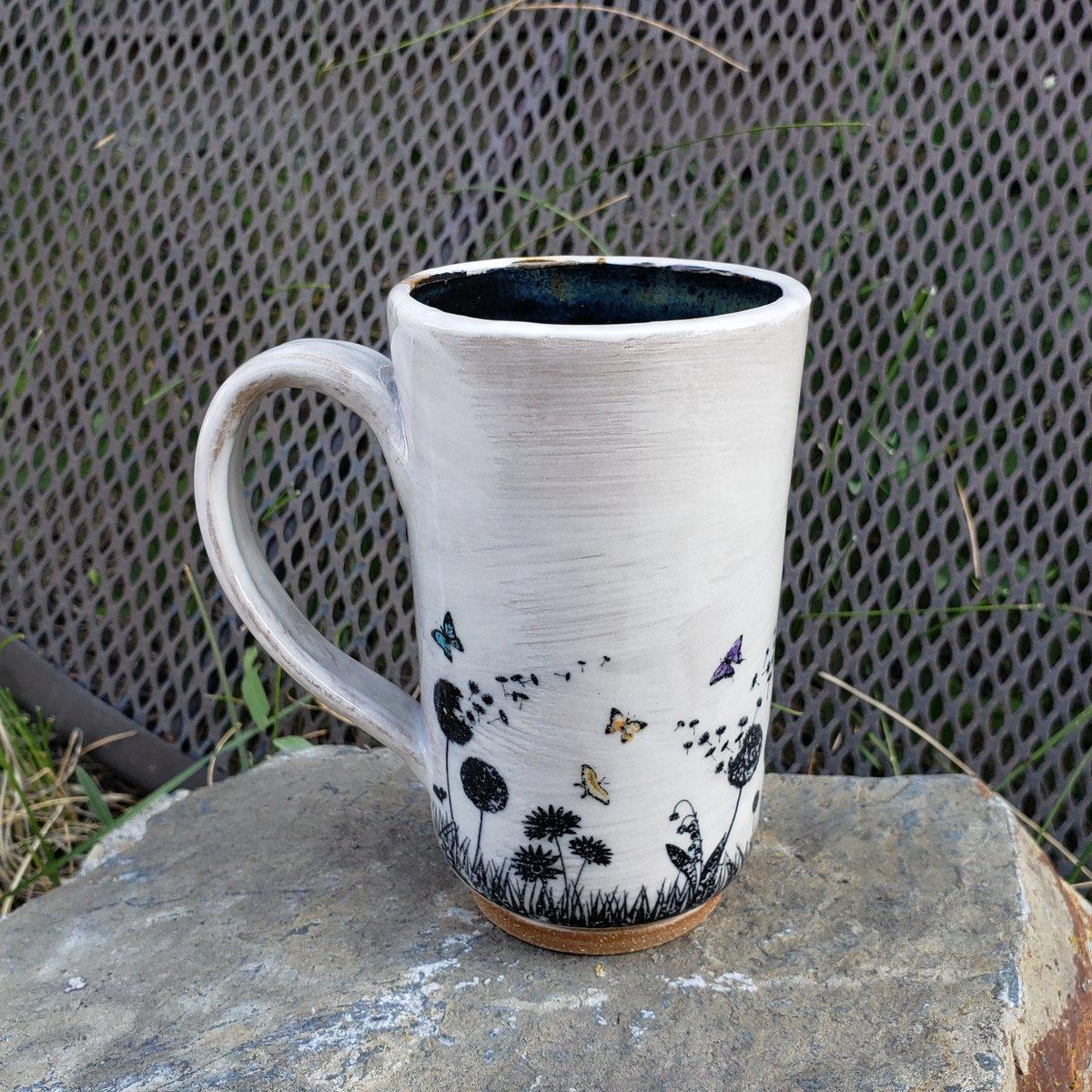 Image of Butterfly Friend Tall Mug: Black