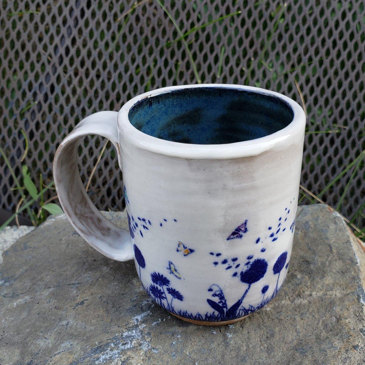 Image of Butterfly Friend Small Mug: Blue