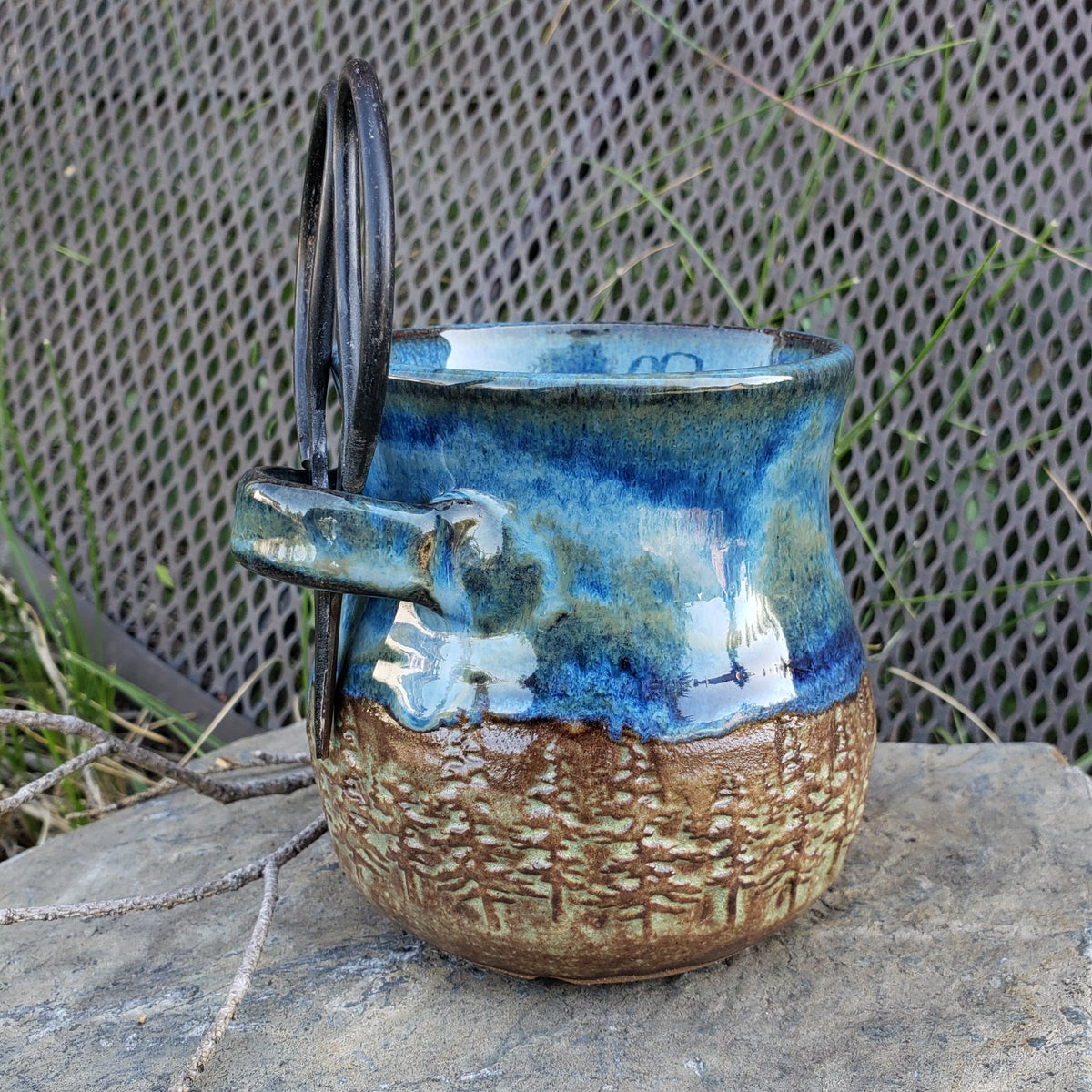Image of Small Crafter's Catch-all and steel bonsai snips: Nestled in the Forest under Bluebird Skies