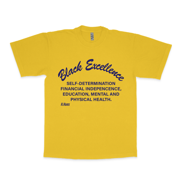 Image of BLACK EXCELLENCE YELLOW SHIRT