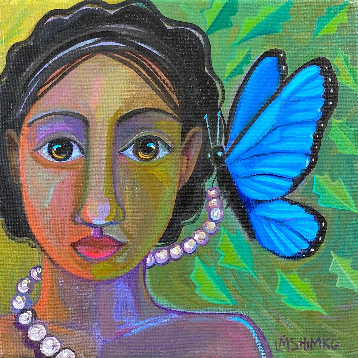 Image of Dream Gaze Blue Butterfly