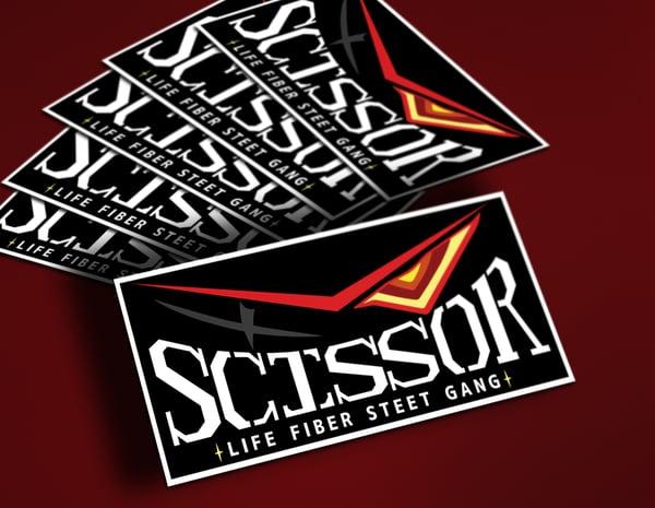 Image of Scissor Team Sticker