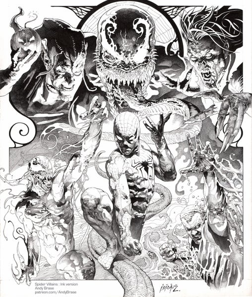 """Image of Spider Villains- 13x19 Print *LIMITED* <font color=""""red"""">NEW</font>"""