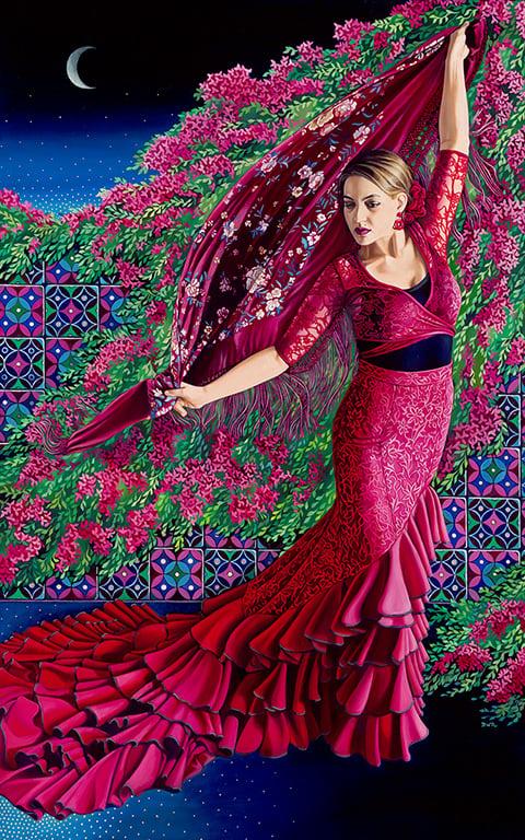 "Image of ""Flamenco de Noche"" Prints"