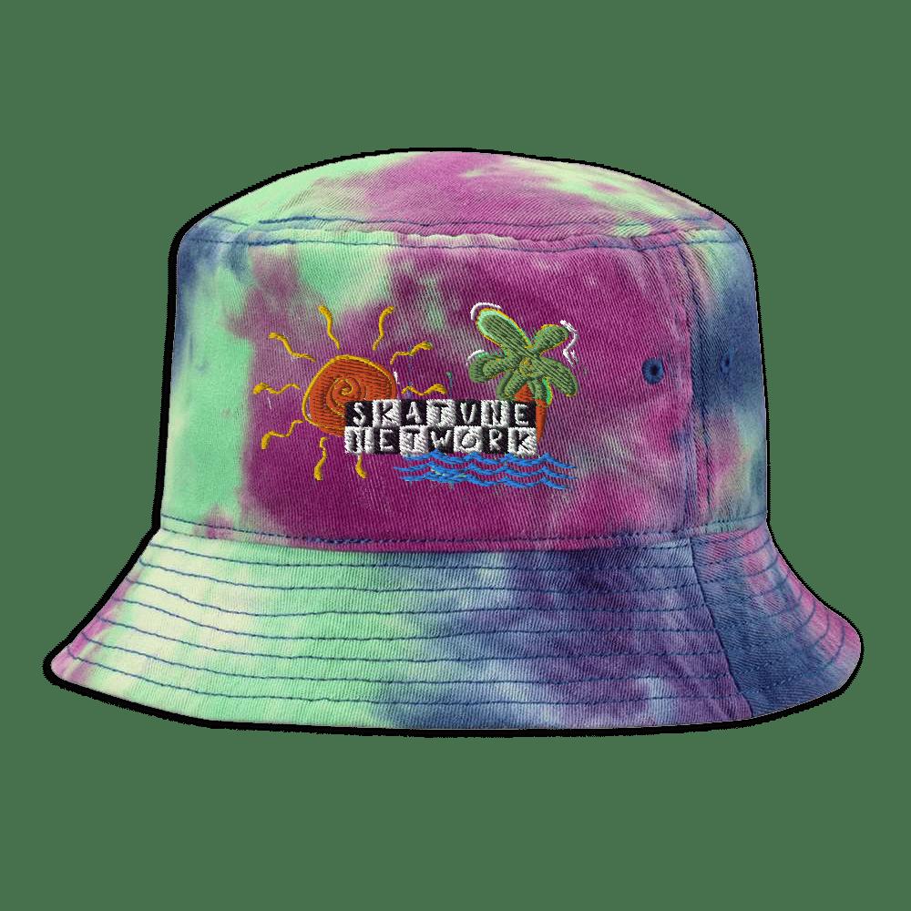 Image of Greetings from Ska Shores | Tie-Dye Bucket Hat