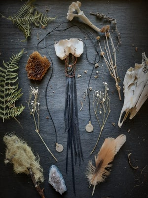 Image of Deer Atlas with Chains, Leather Fringe, and Turkish Coins Necklace