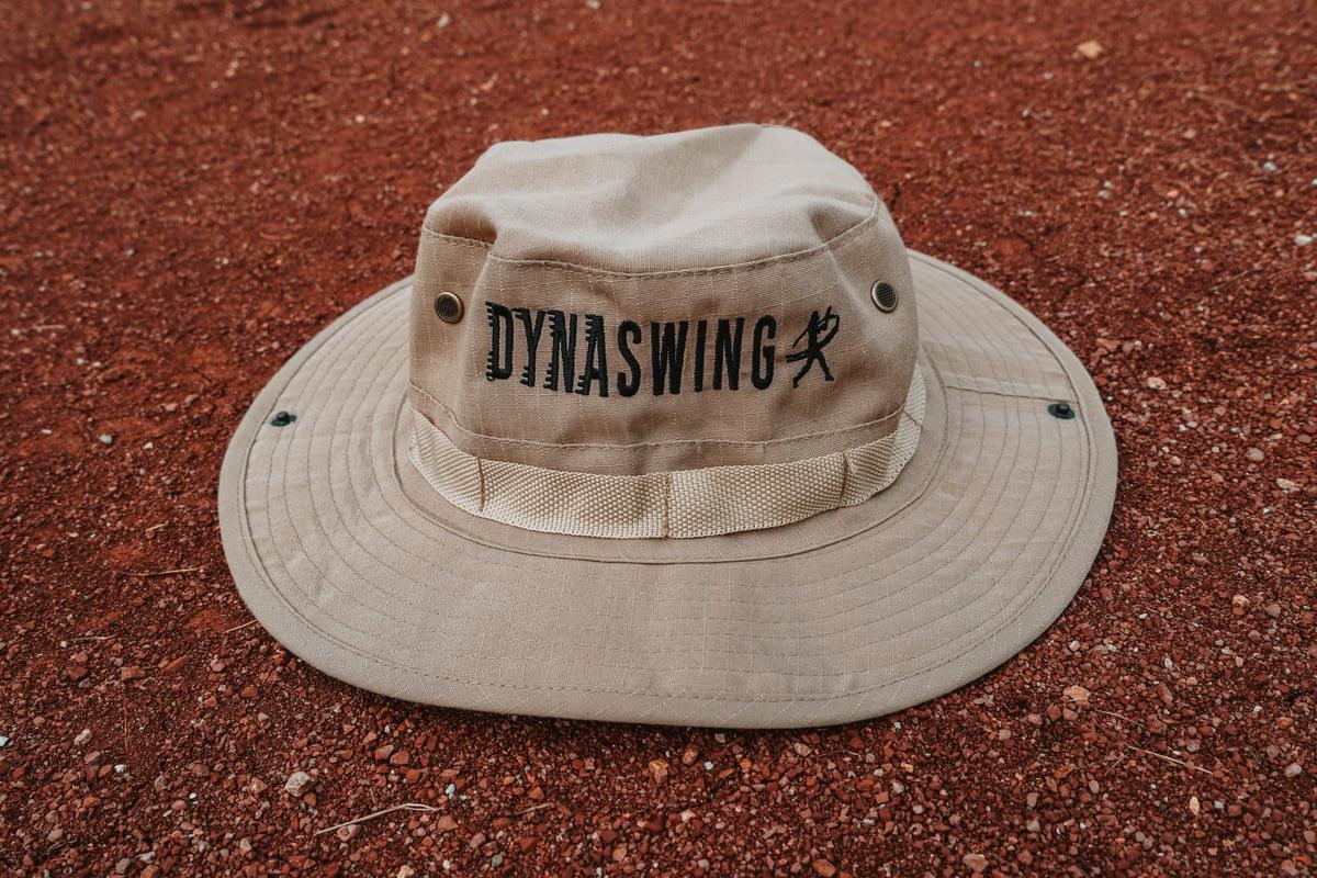 Image of Dynaswing Logo Bucket Hat-Beige