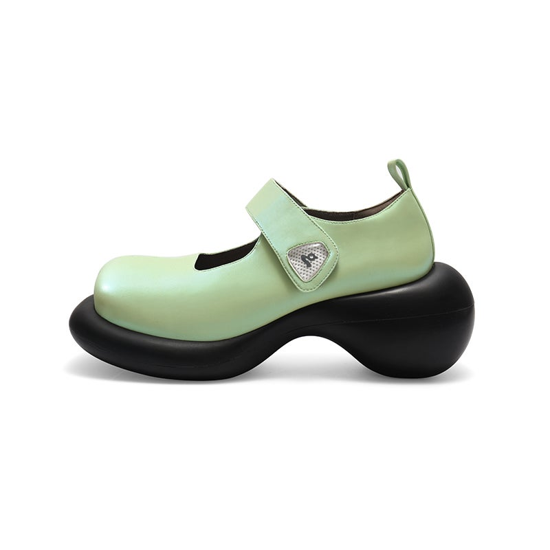 Image of Green Mary Jane Platform Shoes