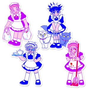 Image of JJK maids sticker pack