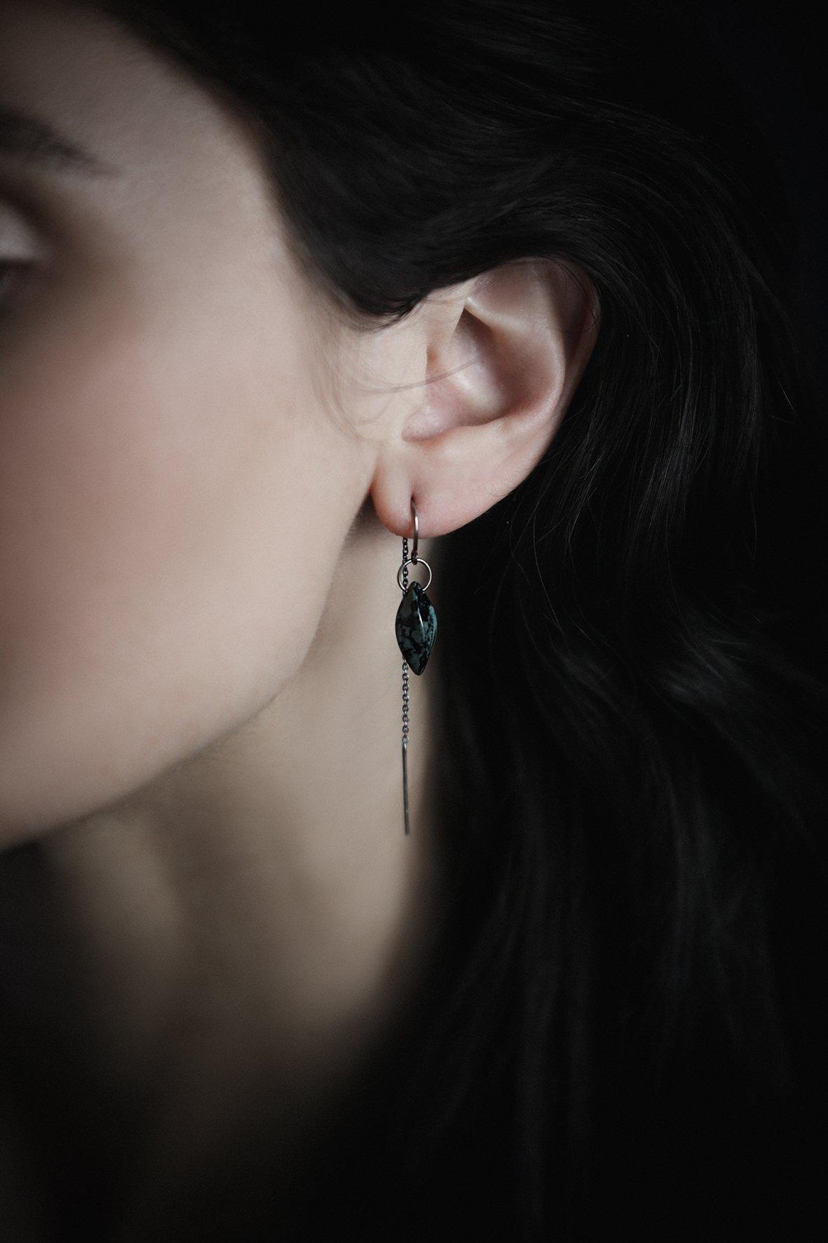 Image of STELLAR short drop earrings