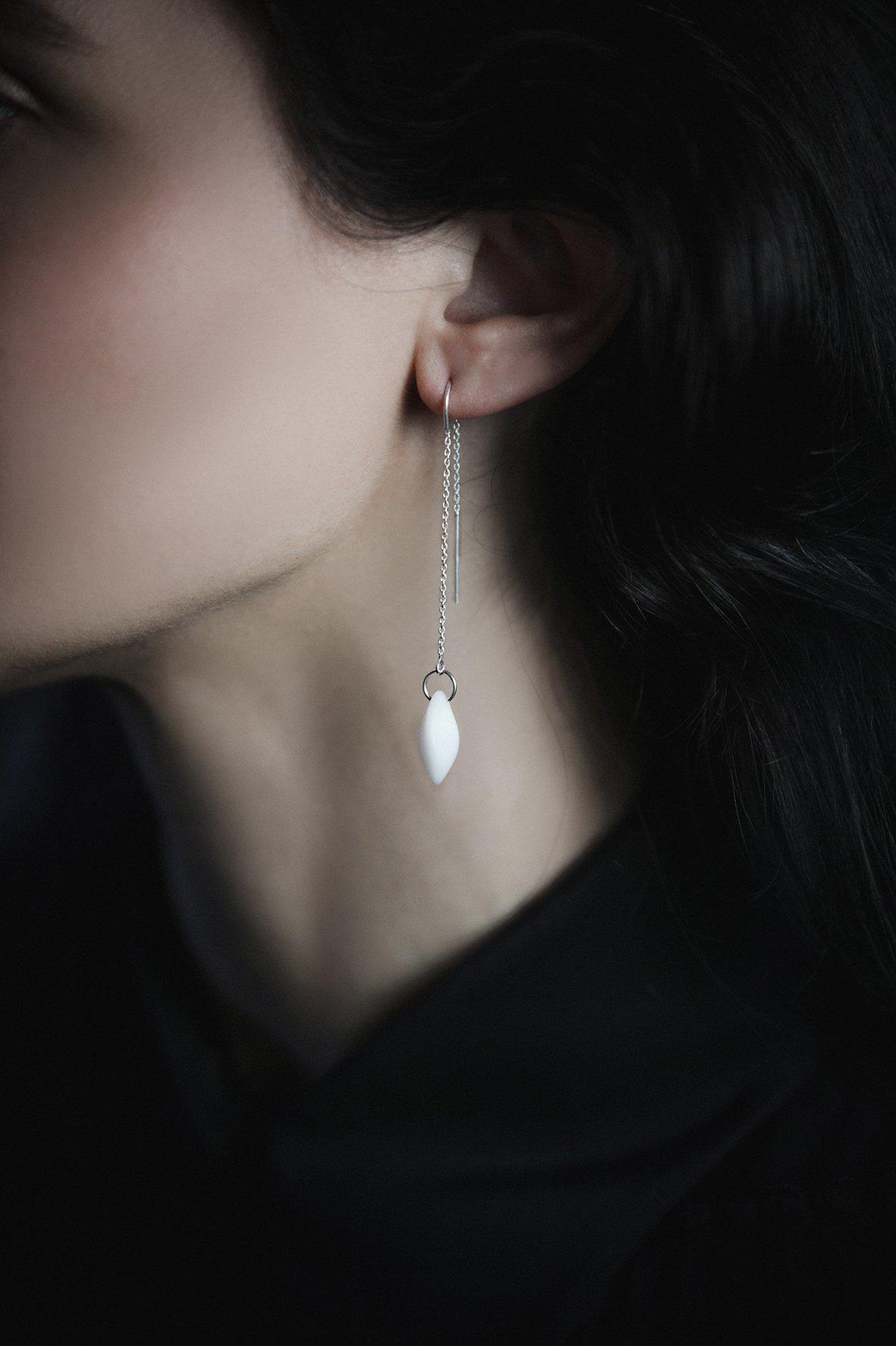 Image of STELLAR long drop earrings