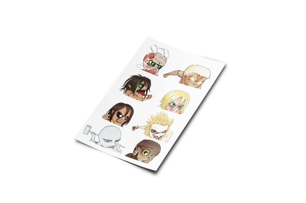 Image of MINI Attack on Titan Sticker Sheet