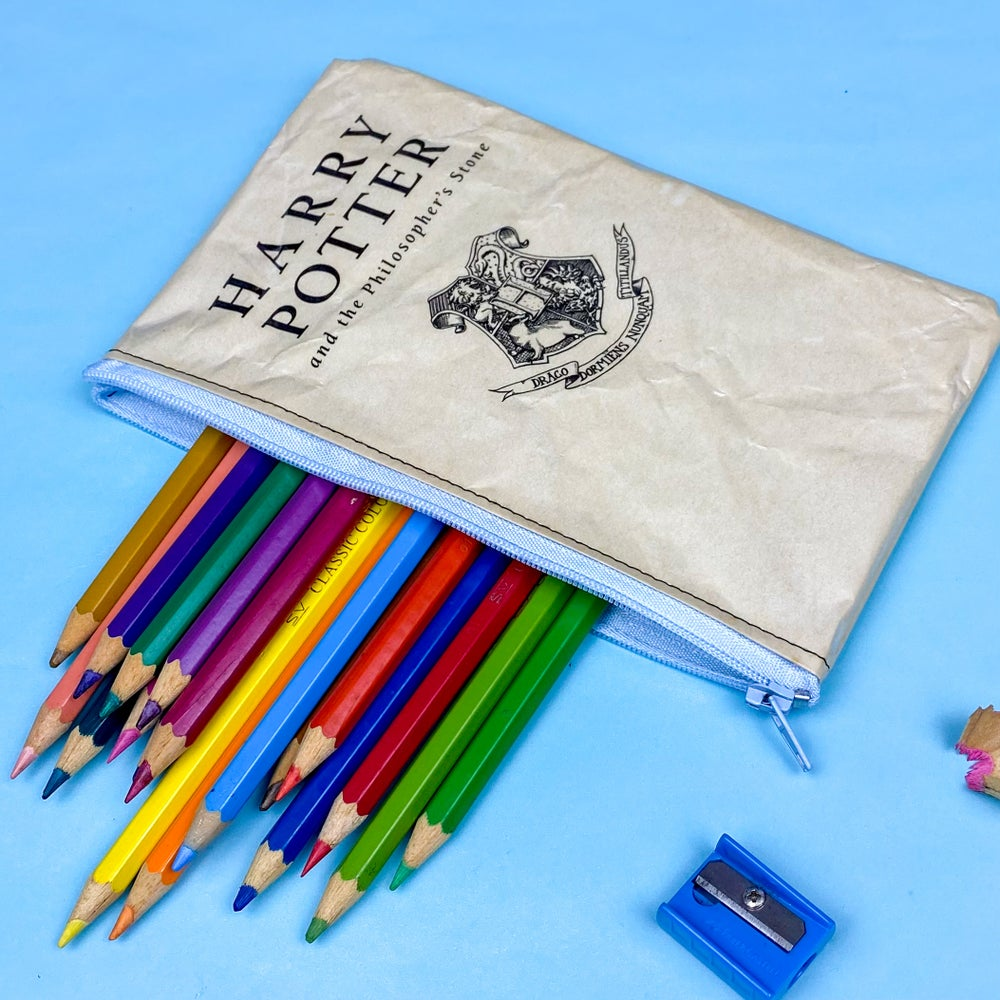 Image of Philosopher's Stone Book Page Pencil case, Harry Potter