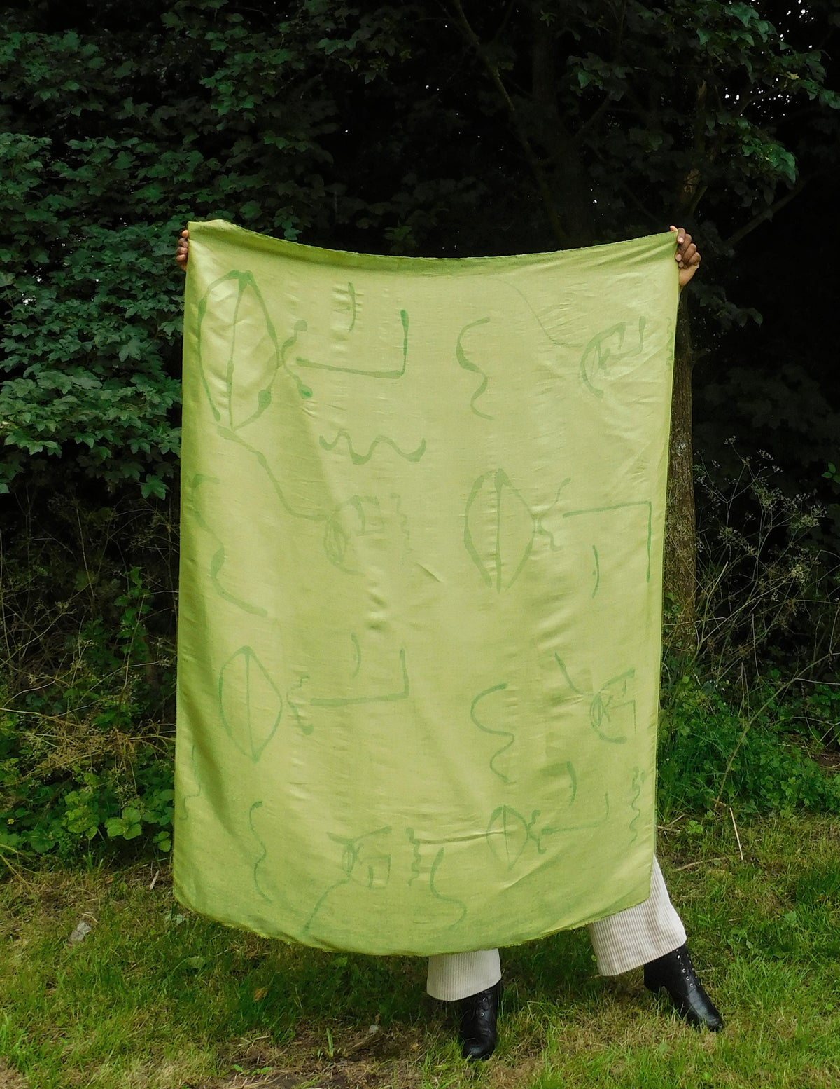 Image of gold n green scarf