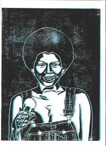 Image of Minnie Ripperton Linol-Print