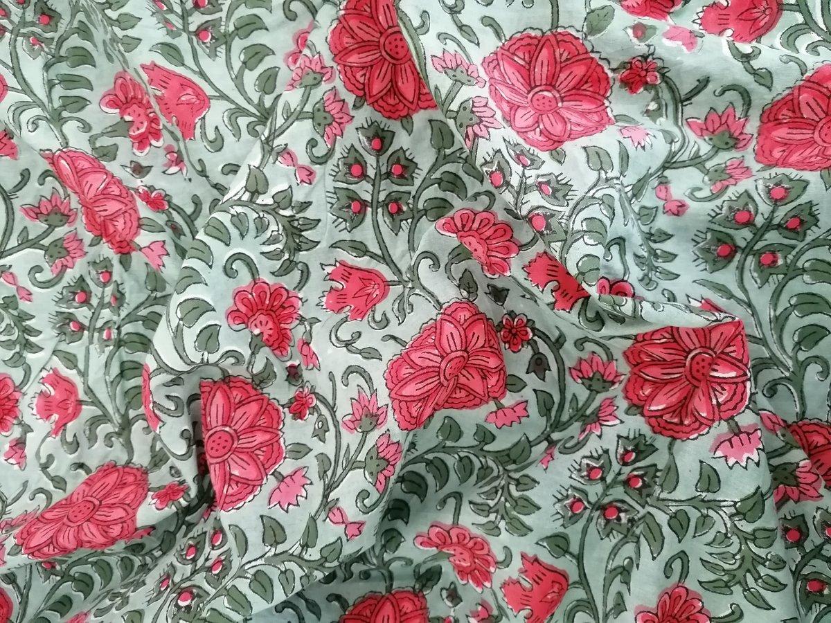 Image of Namasté fabric dahlia