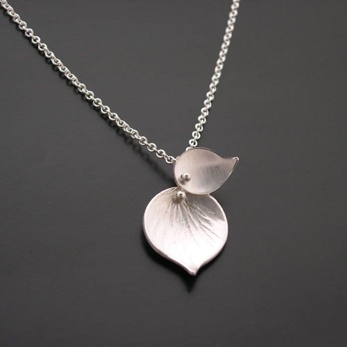 Double leaf pendant ai jewelry image of double leaf pendant aloadofball Image collections