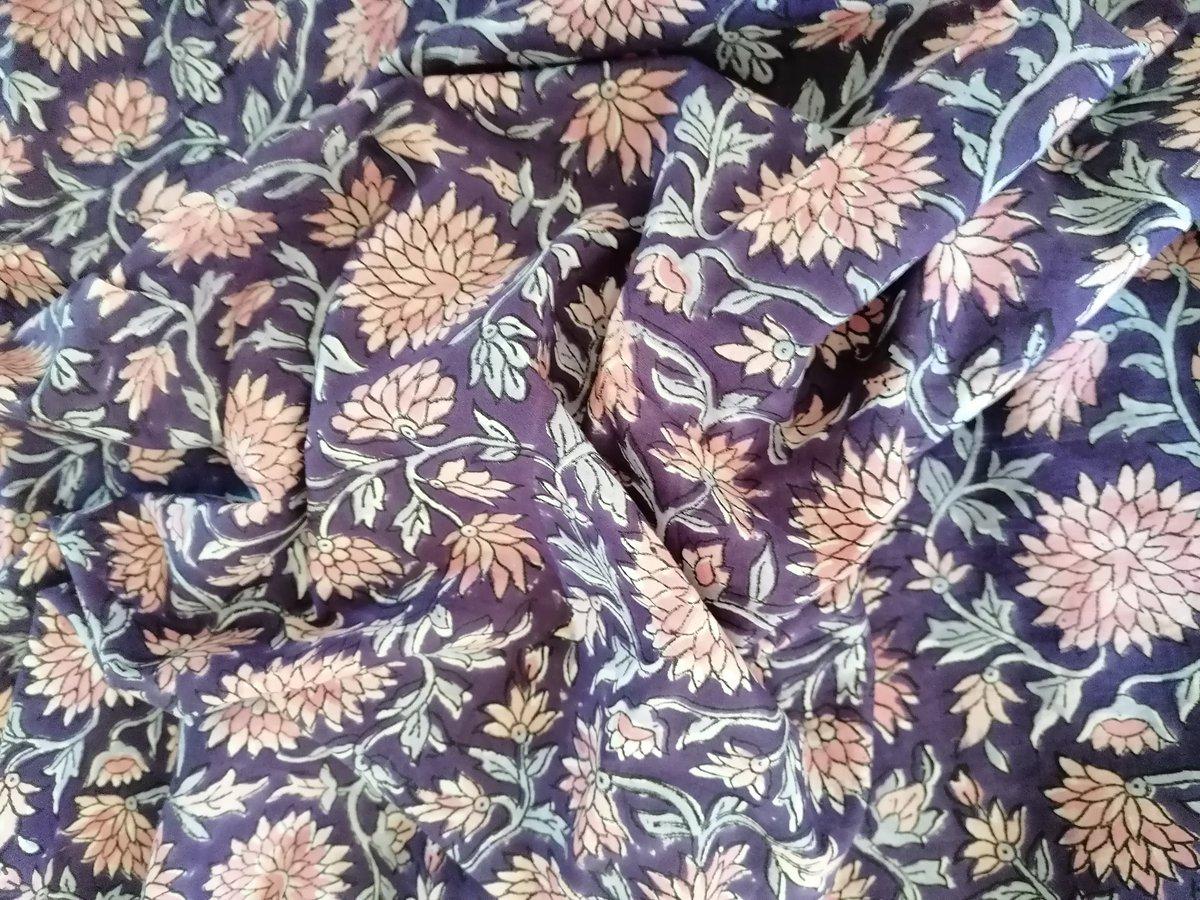 Image of Namasté fabric purple