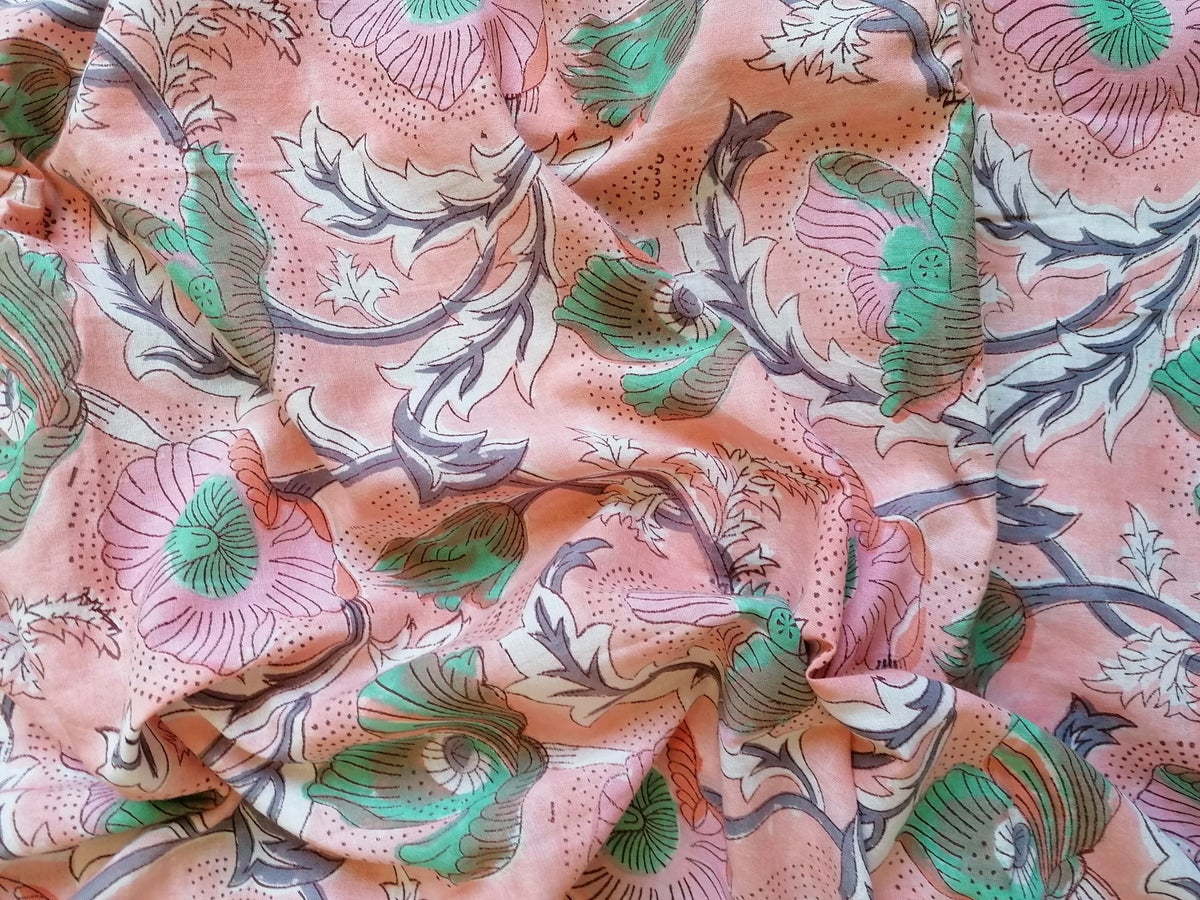 Image of Namasté fabric soleil levant nude