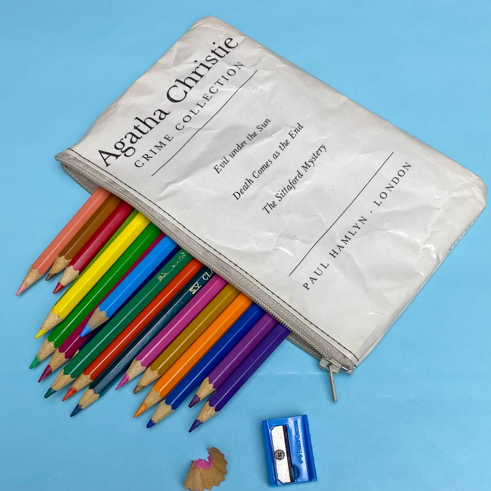 Image of Agatha Christie Book Page Pencil Case