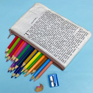 Image of Picture of Dorian Gray Book Page Pencil Case, Oscar Wilde