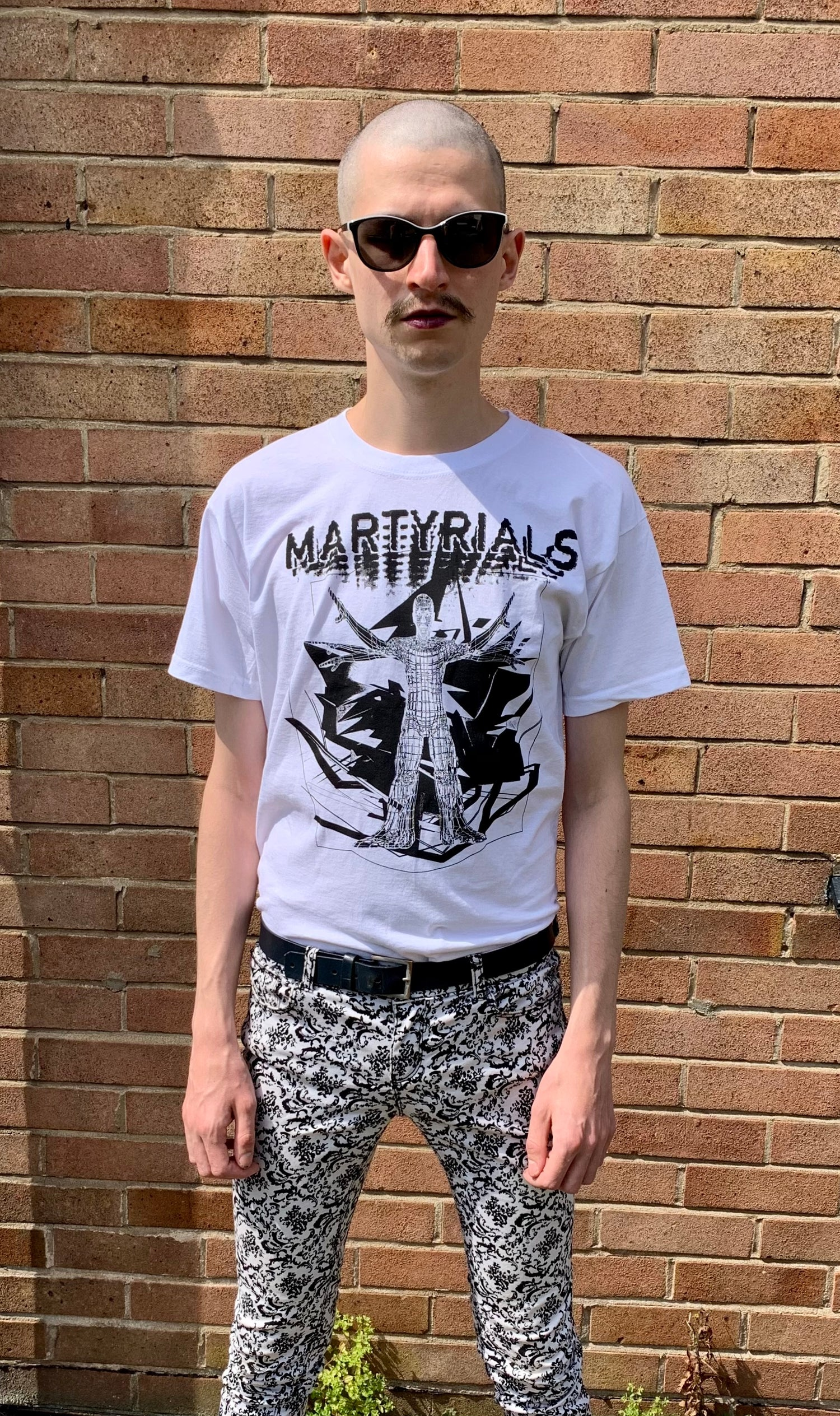 Image of 'CHAOS' T-SHIRT - WHITE / BLACK INK [ONLY 8 MADE]