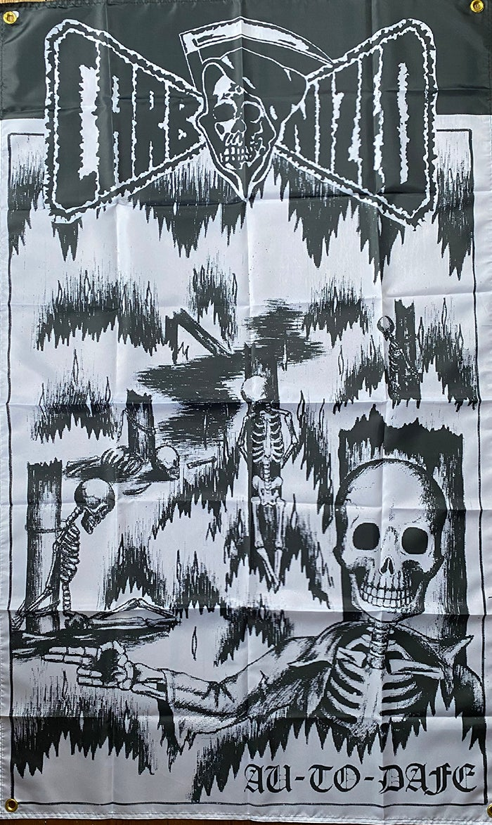 """Image of Carbonized """" Au-To-Dafe """"  Flag / Banner / Tapestry"""