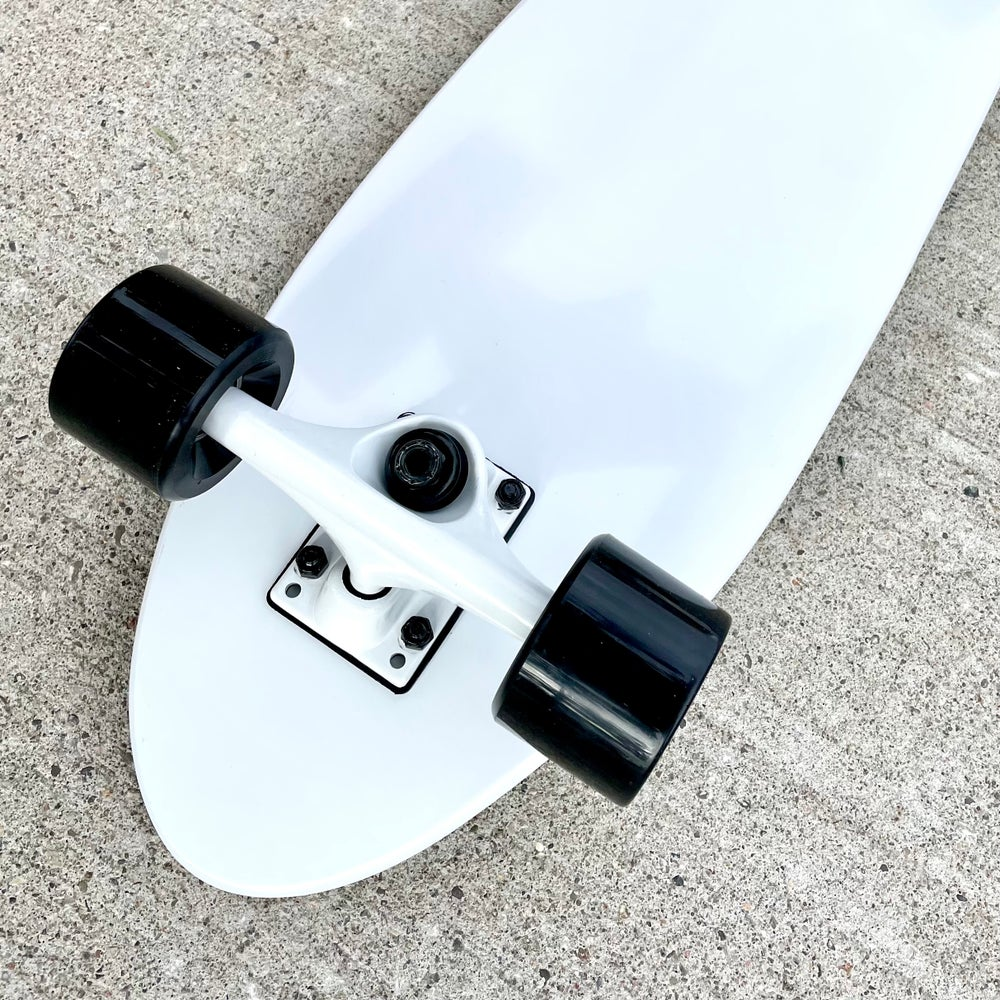 """Image of Black and White 8"""" Complete Cruiser"""