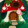 Secret mushroom fairy house - green top