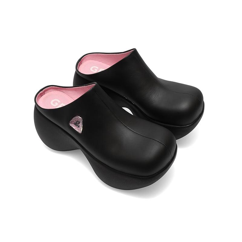 Image of Black Platform Slippers 'Capsule'