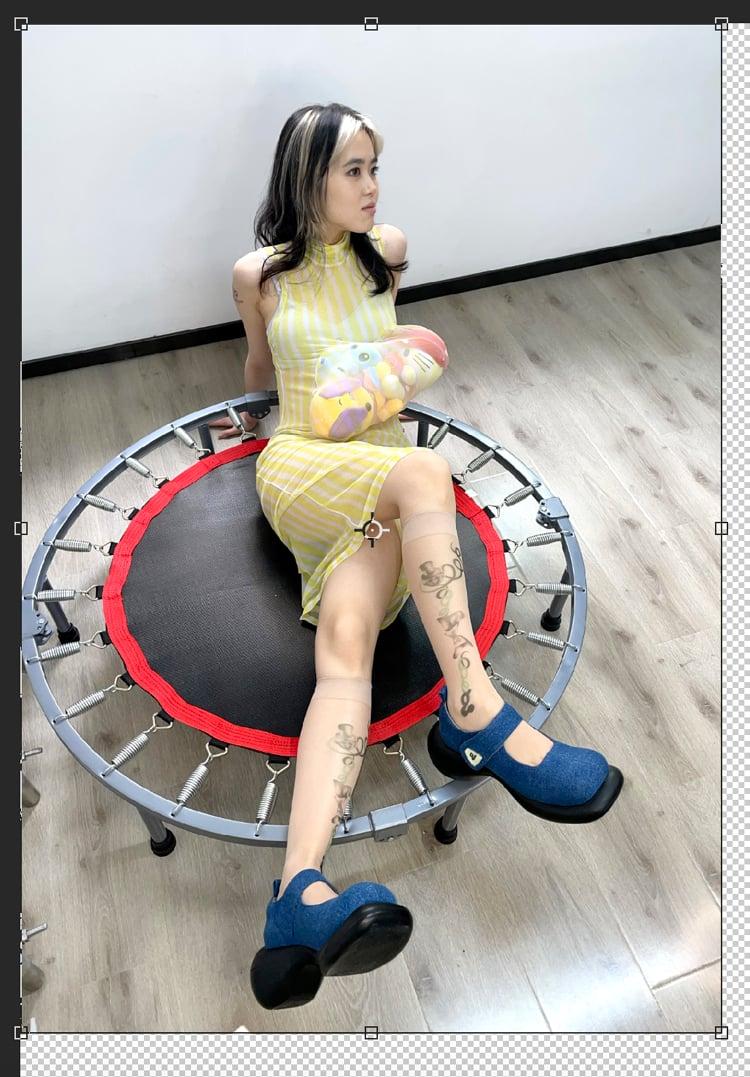 Image of Denim Mary Jane Platform Shoes