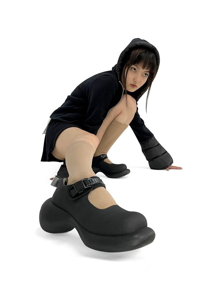 Image of Black Mary Jane Platform Shoes