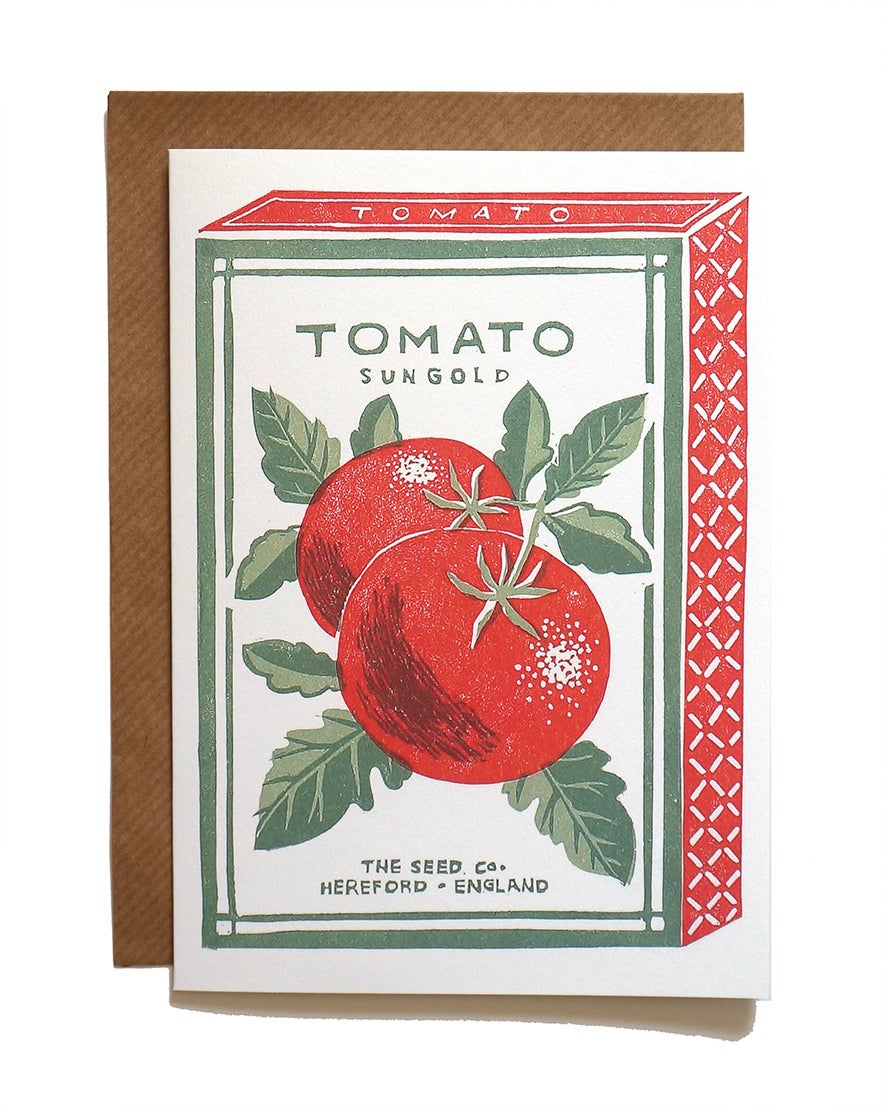 Image of Tomato Sun Gold - Greetings Card