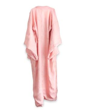 Image of Silkekimono med tynde bolcher striber og strandroser/ 'Too Fairy'