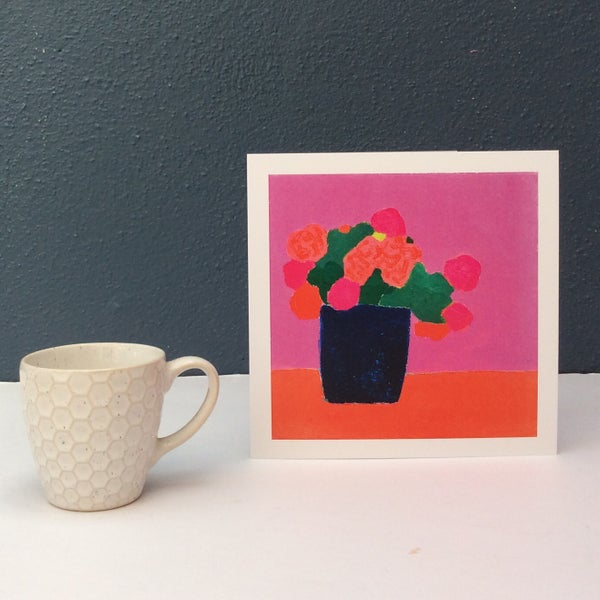 Image of 'Blooms on Pink ' card